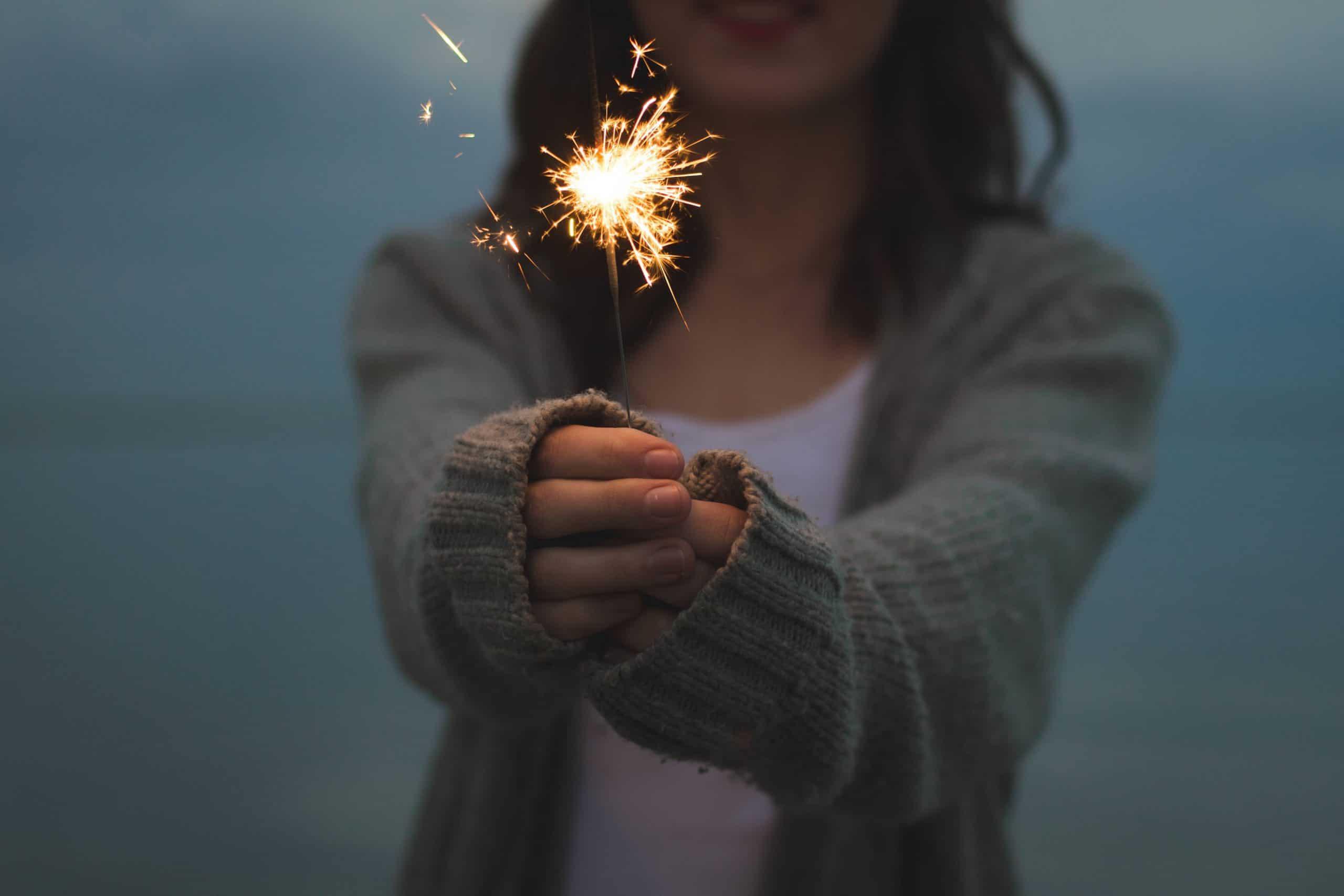 vuurwerk meisje